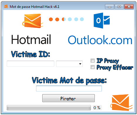 Pirater mot de passe Hotmail