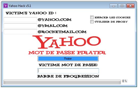 Pirater mot de passe Yahoo